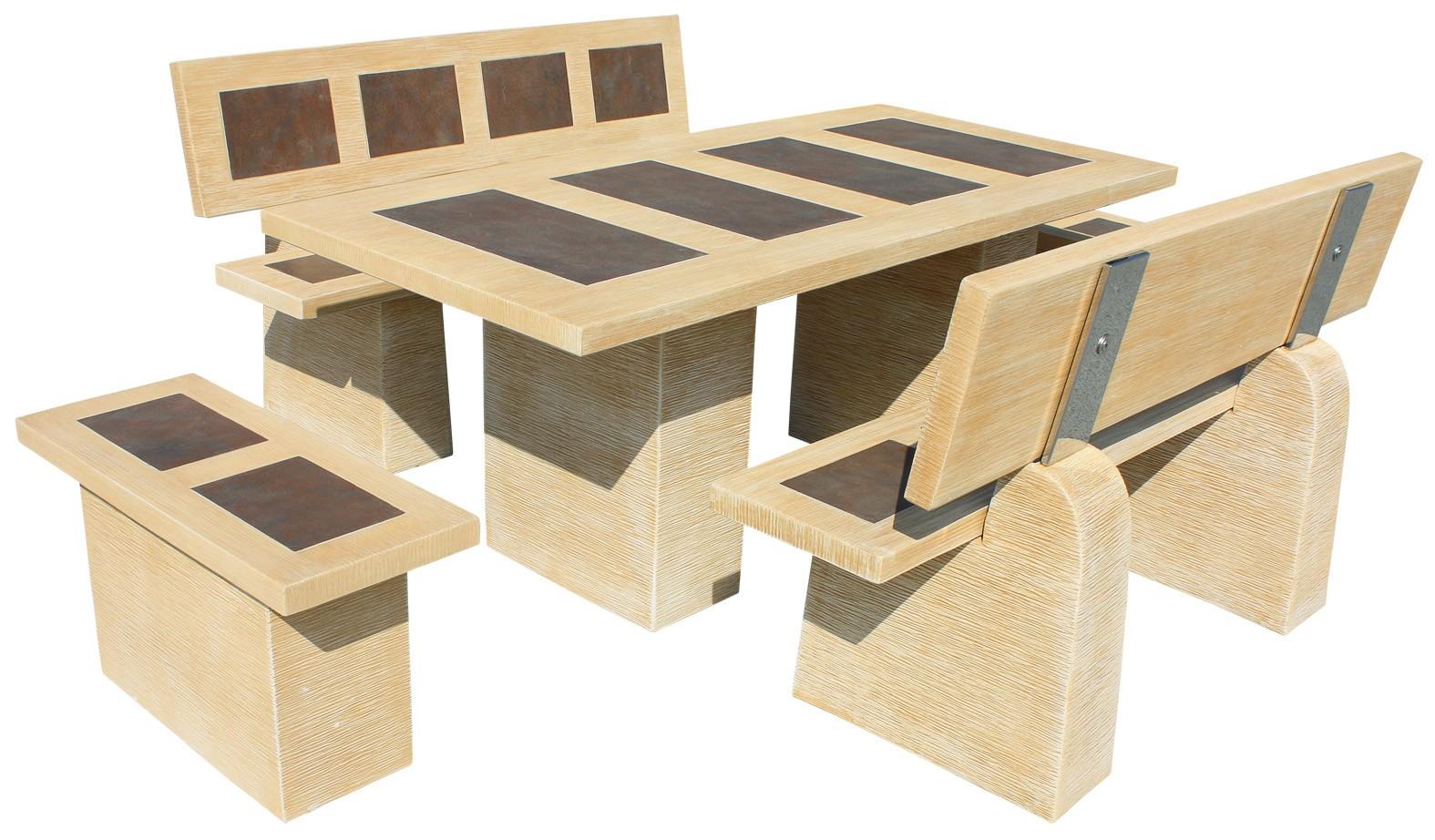 mesas de jardin de piedra
