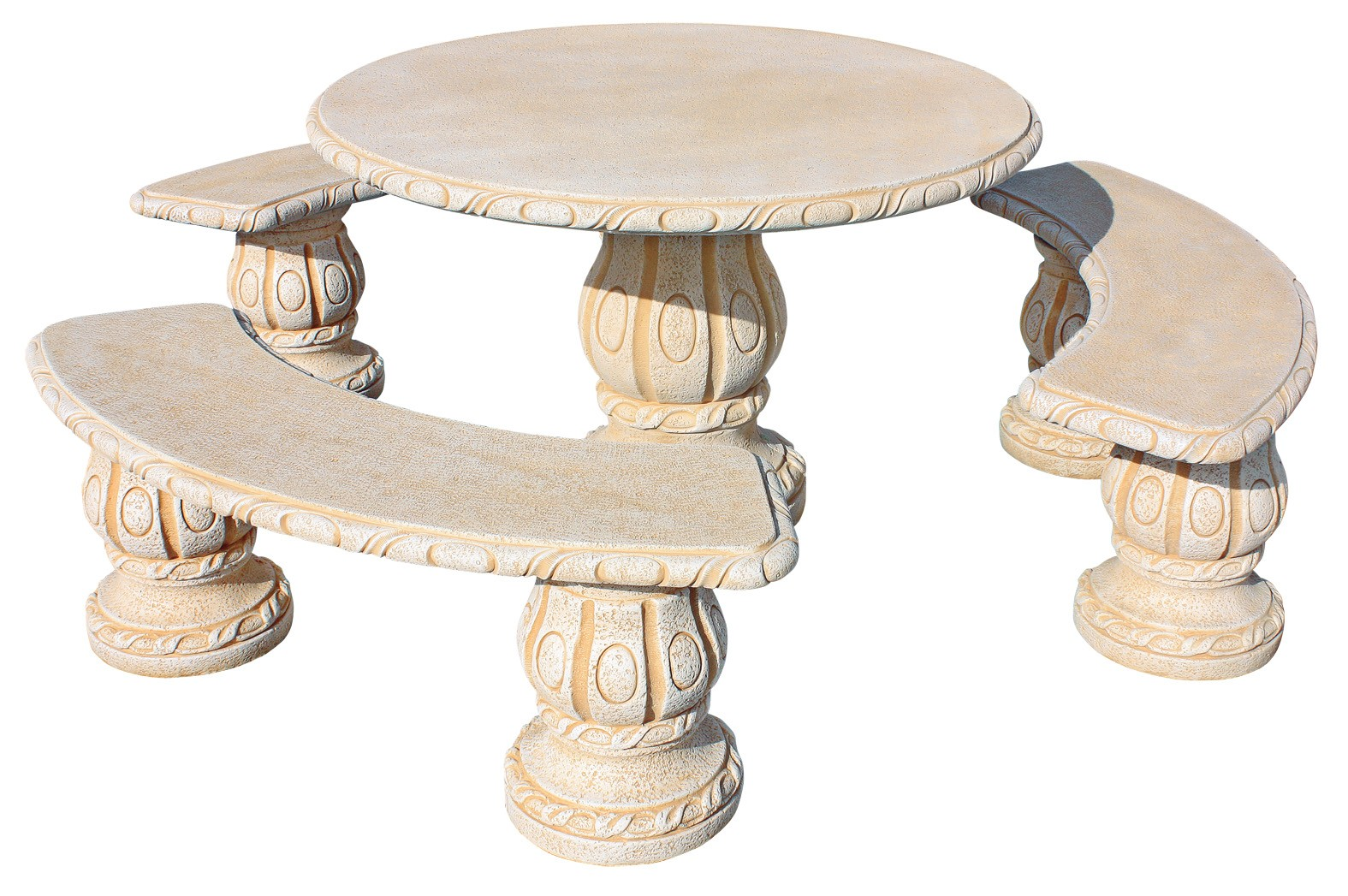 Mesas de jardin de piedra piedra serrada para mesa en jardn mesas y bancos de piedra artesanal - Mesas de piedra ...